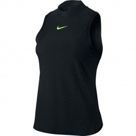 Dámské tenisové tričko NIke DRY SLAM PRM BLACK