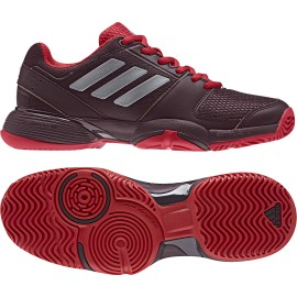 Dětská tenisová obuv adidas Barricade Club dark burgundy/matte silver