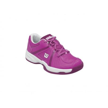 Dětská tenisová obuv Wilson Envy junior white/fiesta pink