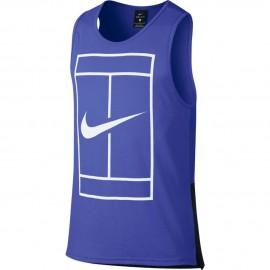 Pánské tenisové tričko NikeCourt Dry PARAMOUNT BLUE/WHITE