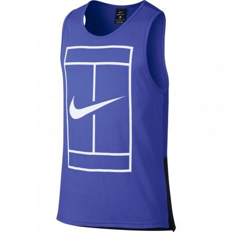 Pánské tenisové tričkoNike Court Dry PARAMOUNT BLUE/WHITE
