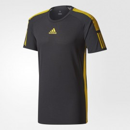 Pánské tenisové tričko adidas Barricade Tee black/yellow