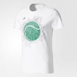 Pánské tenisové tričko adidas LONDON GRAPHIC white