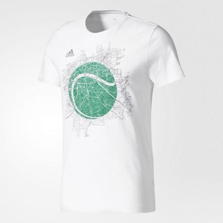 Pánské tenisové tričko adidas LONDON GRAPHIC TEE white