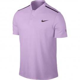 Pánské tenisové tričko Nike RF Advantage Polo VIOLET MIST/BLACK