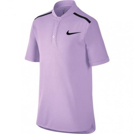 Chlapecké tenisové tričko Nike Advantage Tennis Polo VIOLET MIST/BLACK
