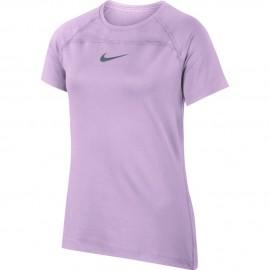 Dívčí tenisové tričko Nike Top VIOLET MIST/BLACK