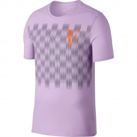 Pánské tenisové tričko Nike RF TEE VIOLET MIST/COOL GREY