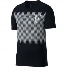 Pánské tenisové tričko Nike RF TEE BLACK/WHIT