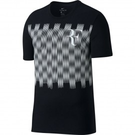 726c3262d Pánské tenisové tričko Nike RF TEE BLACK/WHIT