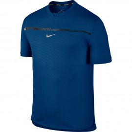 Pánské tenisové tričko Nike AeroReact Rafa Challenger BLUE JAY