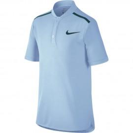 Chlapecké tenisové tričko Nike Advantage Tennis Polo HYDROGEN BLUE/BLACK