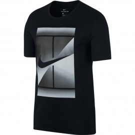 Pánské tenisové tričko Nike DRY TEE BLACK/WHITE