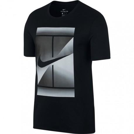 3737679b54 Pánské tenisové tričko Nike DRY TEE BLACK WHITE - Tenissport Březno