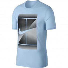 Pánské tenisové tričko Nike DRY TEE HYDROGEN BLUE/BLACK