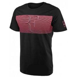 Pánské tenisové tričko Nike RF BLACK/LAVA GLOW