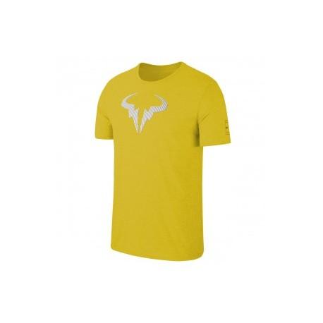 Chlapecké tenisové tričko Nike Rafa Legend BRIGHT CITRON/BLACK