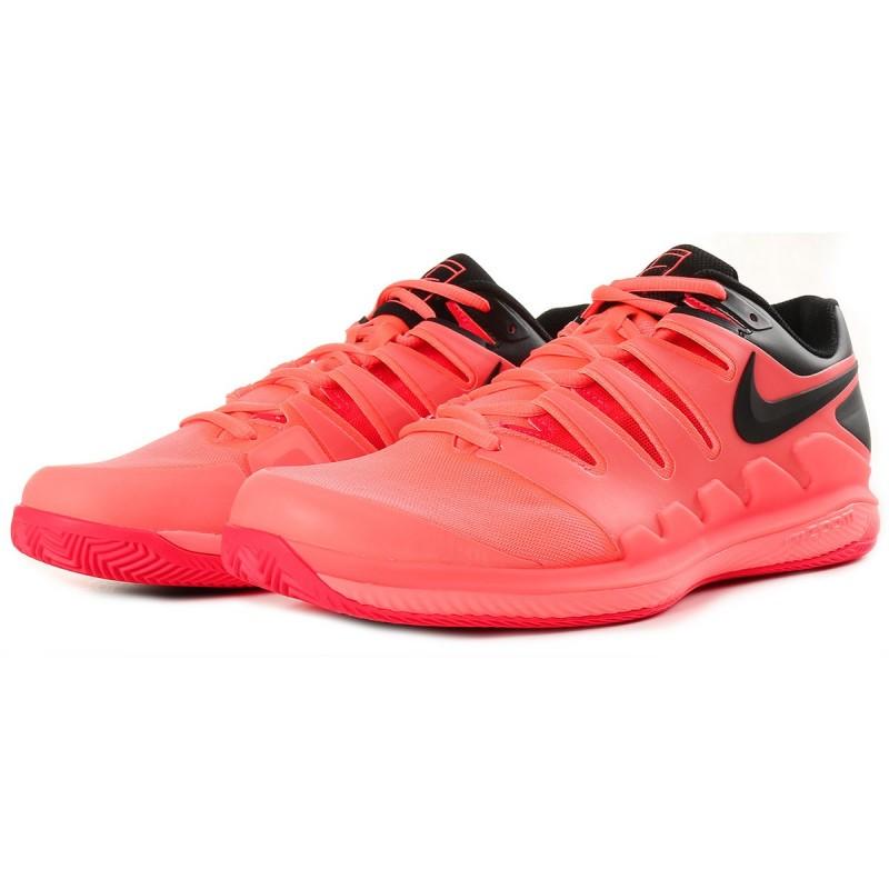 Pánská tenisová obuv Nike Air Zoom Vapor X Clay LAVA GLOW BLACK ... 3a28f71ad79