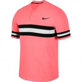 Pánské tenisové tričko Nike Dry Advantage Polo LAVA GLOW/BLACK