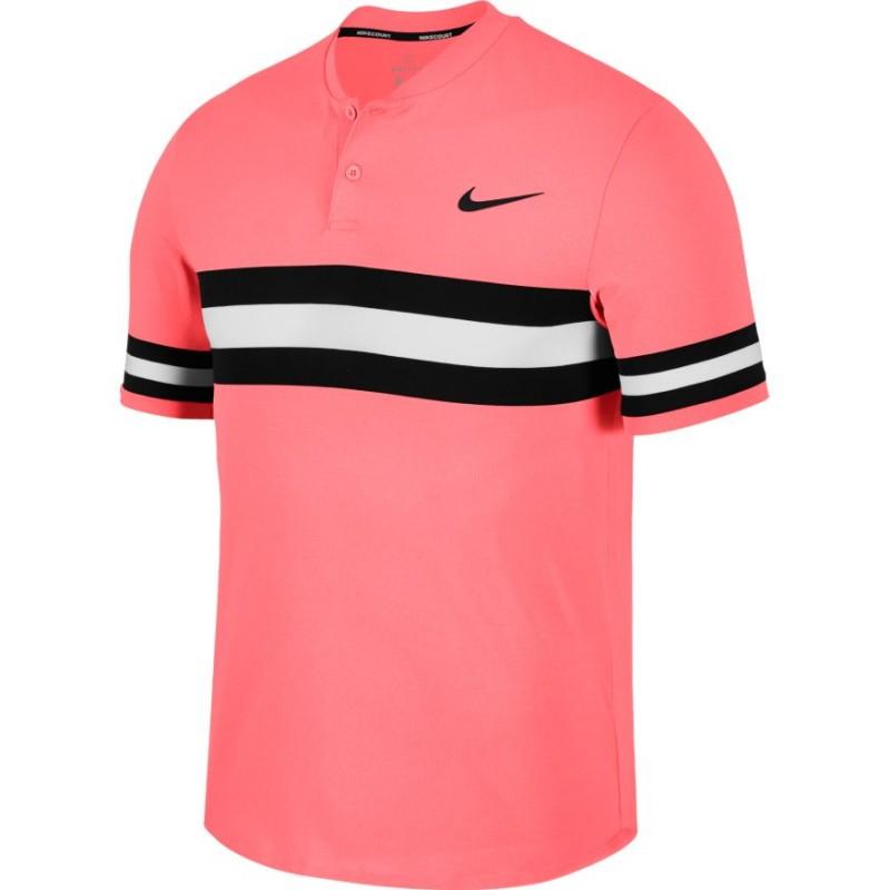 Pánské tenisové tričko Nike Dry Advantage Polo LAVA GLOW BLACK ... e95c12998d