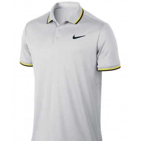 Pánské tenisové tričko NIke Dry Polo Solid VAST GREY