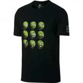 Pánské tenisové tričko Nike QS Balls black