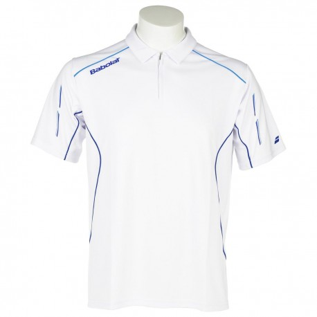 Pánské triko Babolat Polo Match Core white new 2015
