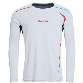 Pánské tenisové tričko Babolat LS Match Perform white