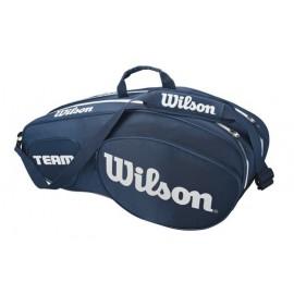 Tenisová taška Wilson Team III 6 Pack Blue