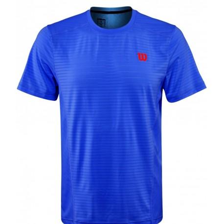 Pánské tenisové tričko Wilson Spring UWII Linear Blue