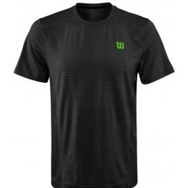 Pánské tenisové tričko Wilson Spring UWII Linear Black