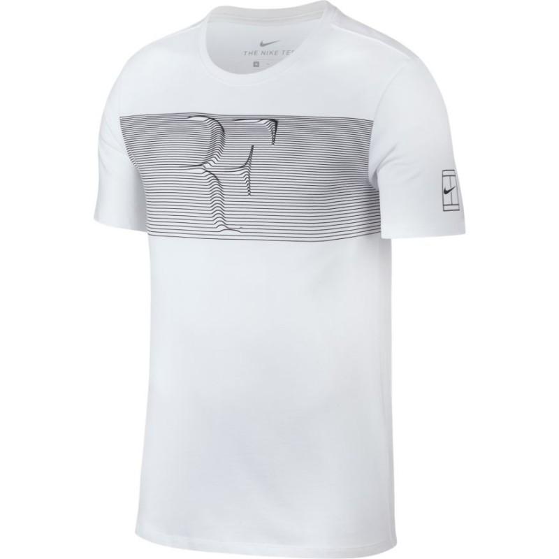 Pánské tenisové tričko Nike RF Court WHITE BLACK - Tenissport Březno ba434ef35e