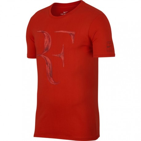 Pánské tenisové tričko NIke RF HABANERO RED