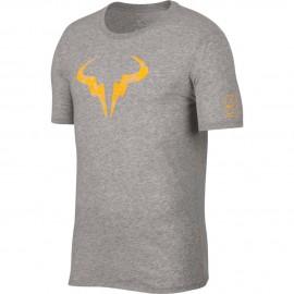Pánské tenisové tričko Nike Dry Rafa DK GREY /ORANGE