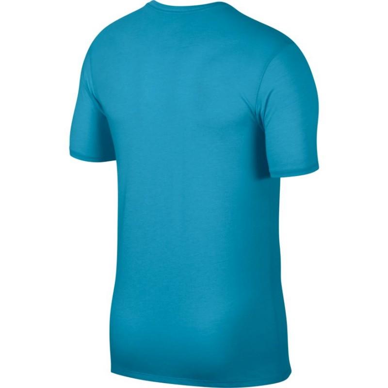 d32856d59346 Pánské tenisové tričko Nike Dry Rafa LAGOON PULSE WHITE - Tenissport ...