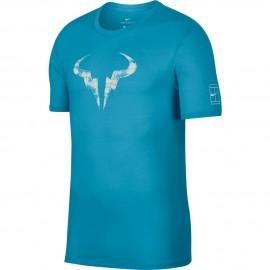 Pánské tenisové tričko Nike Dry Rafa LAGOON PULSE/WHITE