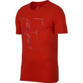 Dětské tenisové tričko Nike Legend RF HABANERO RED