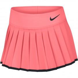 Dívčí tenisová sukně Nike Victory LAVA GLOW/BLACK