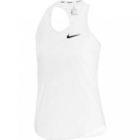 Dívčí tenisové tílko Nike Pure white