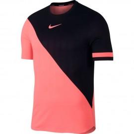 Pánské tenisové tričko Nike Zonal Cooling LAVA GLOW/BLACK