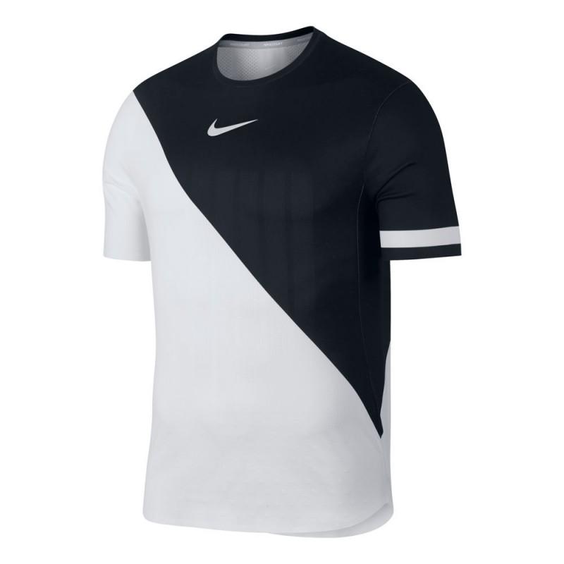 42af53bcc50d Pánské tenisové tričko Nike Zonal Cooling white black - Tenissport ...