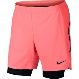Pánské tenisové šortky Nike Court Flex Ace LAVA GLOW/BLACK