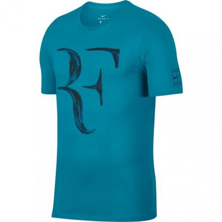 Pánské tenisové tričko Nike RF NEO TURQ/BLACK
