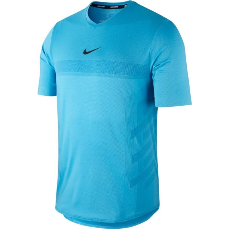 Pánské tenisové tričko Nike Aero React Rafa LAGOON PULSE ... 2247ca0a8d