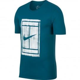 Pánské tenisové tričko Nike Court GREEN ABYSS/WHITE
