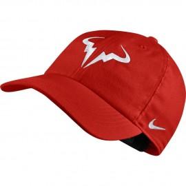 Tenisová kšiltovka Nike Rafa AeroBill H86 HABANERO RED/WHITE