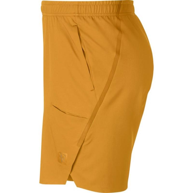 d3a7212760a Pánské tenisové šortky NikeCourt Flex RF Ace GOLD LEAF - Tenissport ...