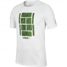 Pánské tenisové tričko Nike Court Wimbledon white