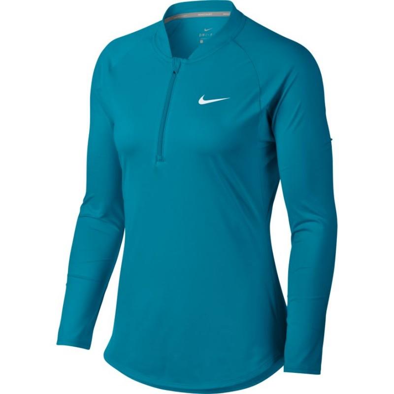 254f9374a472 Dámské tenisové tričko Nike Pure LS NEO TURQ - Tenissport Březno