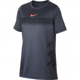 Dětské tenisové tričko Nike Rafa LIGHT CARBON/HYPER CRIMSON